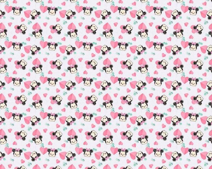Springs Creative Tsum Tsum Minnie Hearts Cotton Woven Fabric