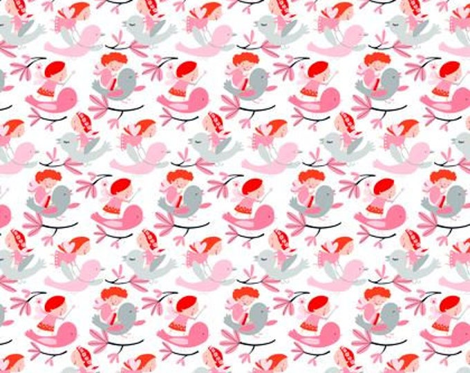 SALE !! Wings and Things, Fit and Flutter Primrose designed by David Walker for Free Spirit Fabrics