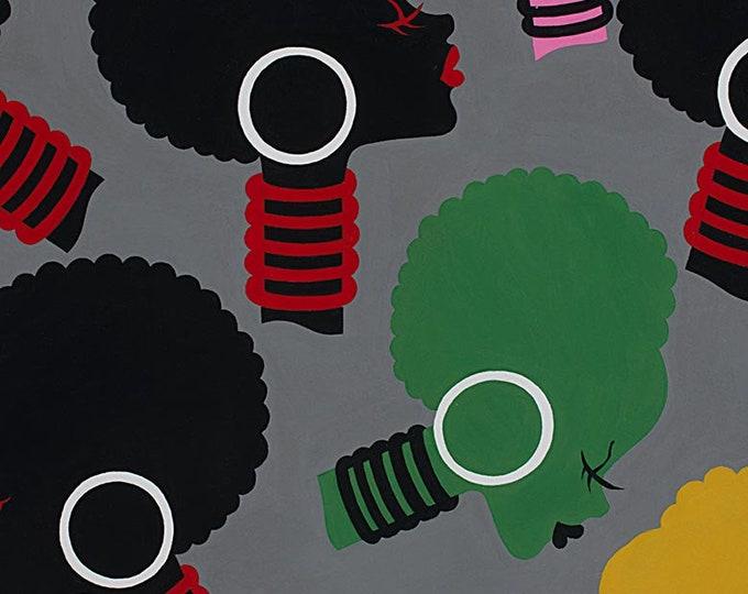 Graphite Electra Cotton Woven Fabric - 8296D - Alexander Henry Fabrics