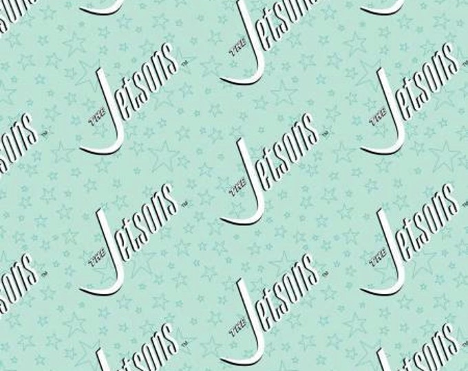 Blue Logo, The Jetsons by Camelot Fabric
