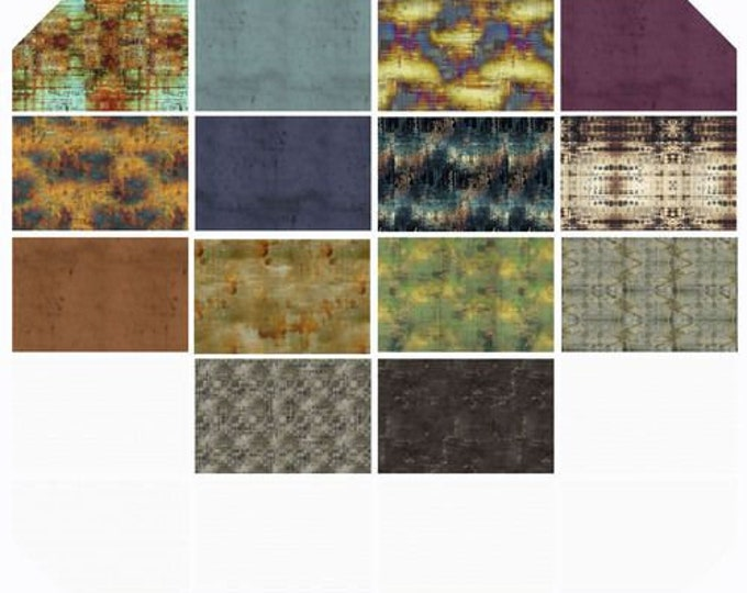 Free Spirit - Eclectic Elements - Abandoned by Tim Holtz - Fat Quarter Bundle of 14 #FB2FQTH.ABANDONED - Cotton Woven Fabric