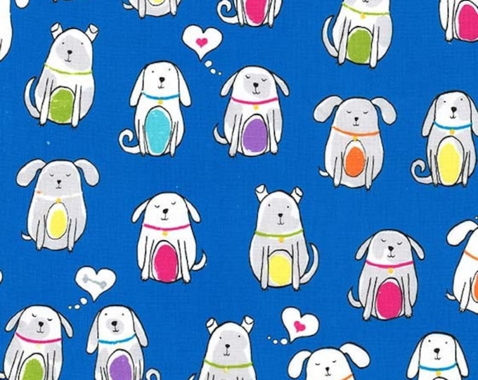 Michael Miller - Paw Prints for ASPCA - Bright Dog Earred dc8194_brite Cotton Woven Fabric