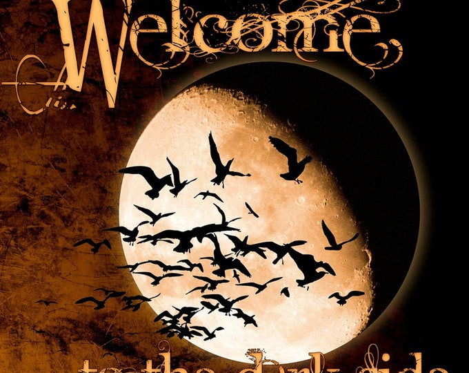 """Springs Creative - Halloween by Kate Ward Thacker - 36"""" Panel Welcome to the Dark Side # 72418A620715 - Cotton Woven Fabric"""