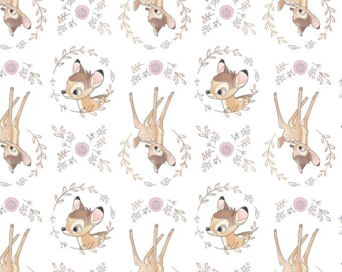 Camelot Fabrics - Disney Sentimental - Sweet Bambi with Metallic Copper #85040107L-1 Cotton Woven Fabric
