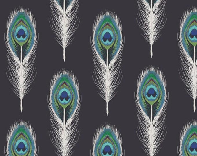 Art Gallery Fabric - Decadence - Noir Plumage Mirrors - Cotton Woven Fabric - Bari J