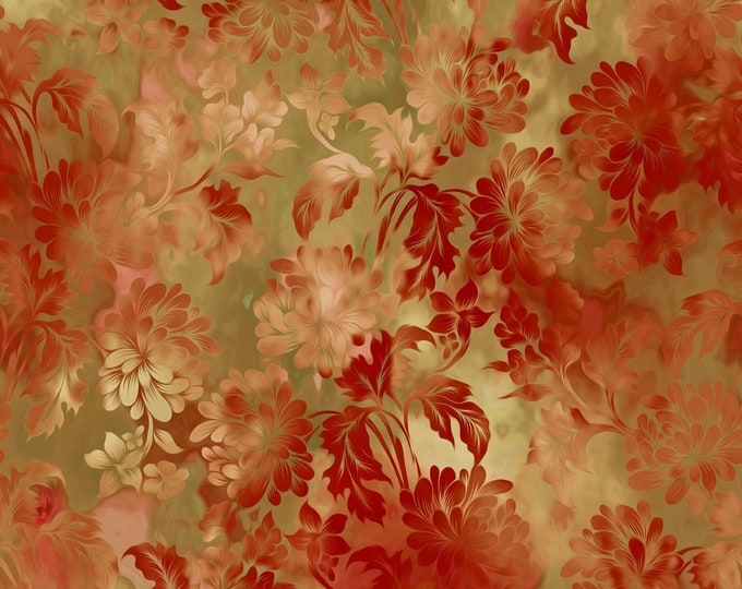 In the Beginning Fabrics - Diaphanous by Jason Yenter  - Gold 2ENC-1 Cotton Woven Fabric