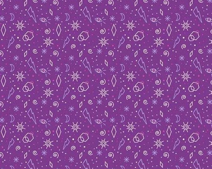 Andover Fabrics - Tattooed by Libs Elliott -  Purple Zoltar  A-8440-P Cotton Woven Fabric