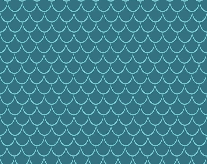 Riley Blake Fabrics - Dragons by Ben Byrd -  Scales Blue  c7666-blue Cotton Woven Fabric