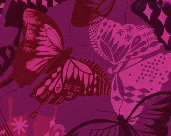 Flutter Fuchsia Rayon fabric by Cotton + Steel