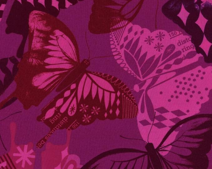 Cotton + Steel Fabric - Flutter - Fuchsia Rayon fabric