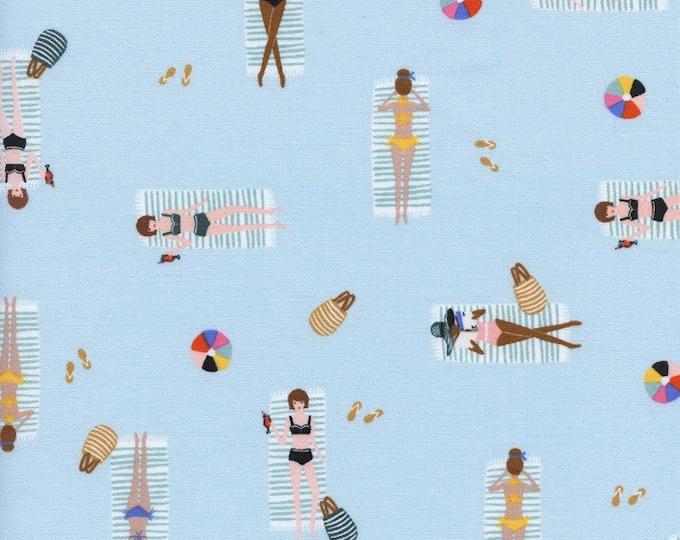Cotton + Steel Fabric - Amalfi by Rifle Paper Co - Sun Girls Sky cotton fabric