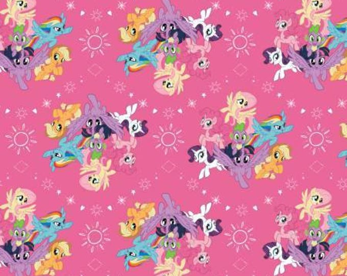 Pink My Little Pony Digital Cotton Woven