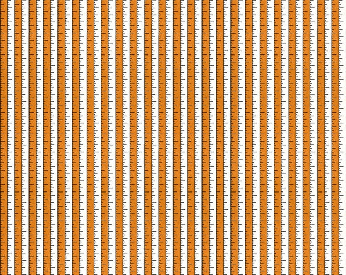 Riley Blake - Costume Makers Ball by Janet Wecker-Frisch - Tape Measure Orange #C8365R-ORANG Cotton Woven Fabric