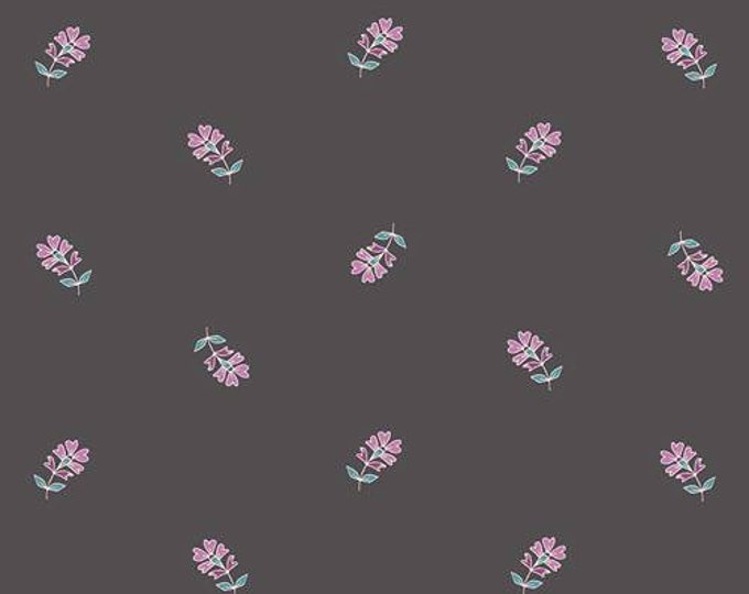 Art Gallery Fabric - Flower Child - Sprinkled Petals - Moon- Cotton Woven