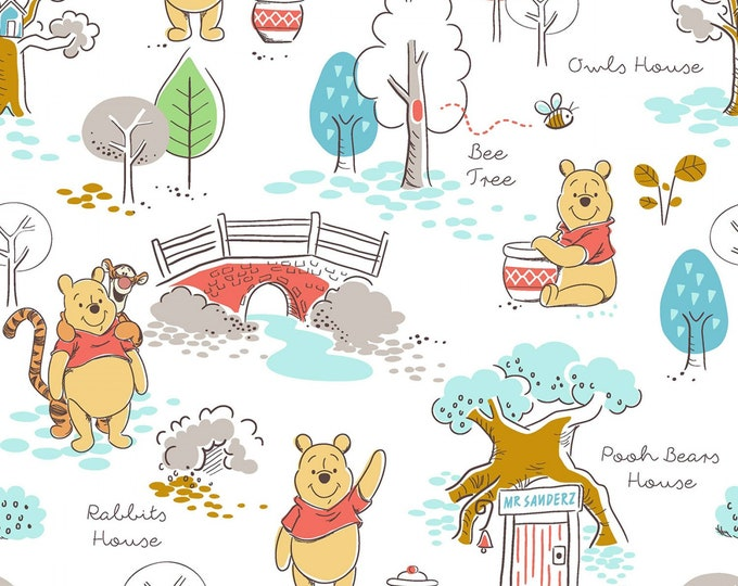 Springs Creative - Licensed Disney Winnie the Pooh - Pooh's House #67469A620715 - Cotton Woven Fabric