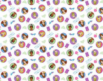 Springs Creative - Disney Princess Strong cotton Lycra Knit fabric