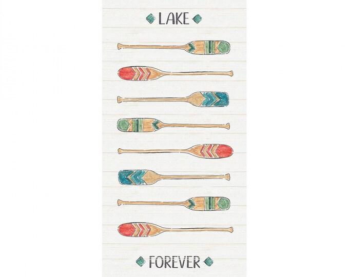 Camelot Fabrics - Lake Moments Digital - Multi Paddles 18in Half Panel Digitally Printed # 66180108PJ-1 - Cotton Woven Fabric