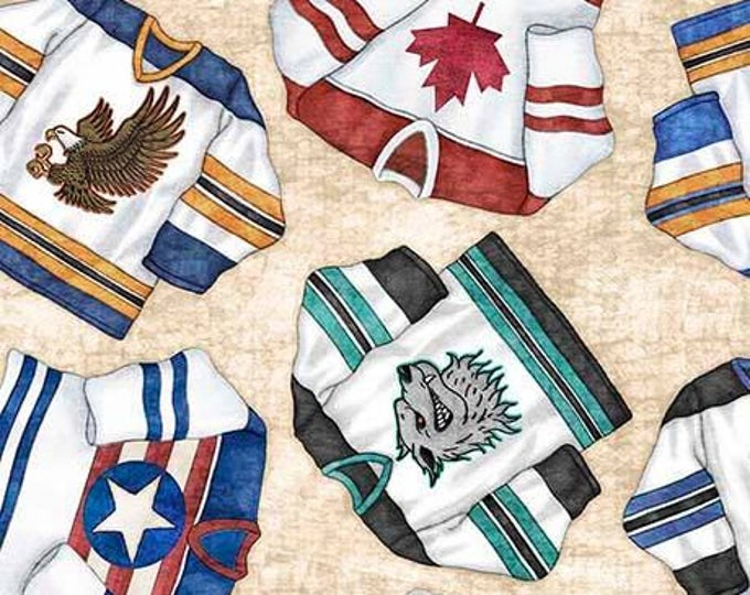 Face Off Hockey Jerseys on Natural Cotton Woven by Dan Morris