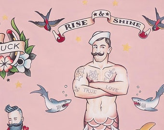 Alexander Henry Fabrics -  Nicole's Prints  - 8833c Pink Rise & Shine - Cotton Woven Fabric