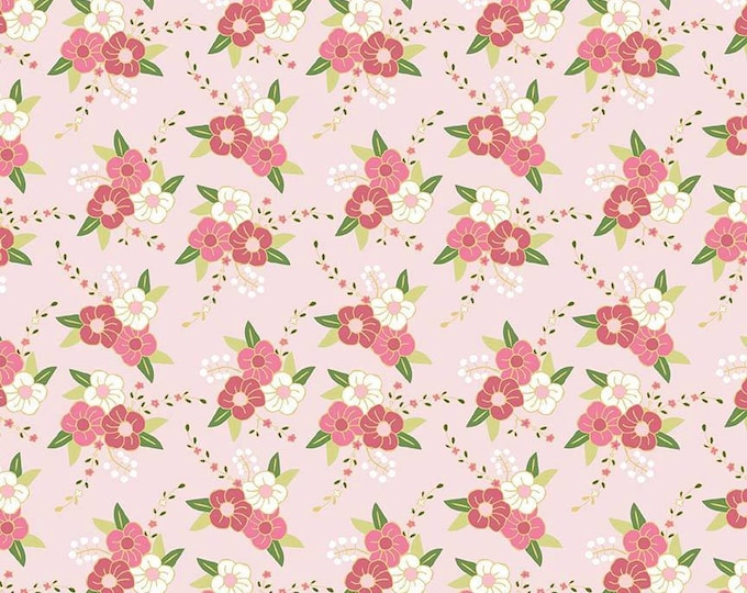CLEARANCE -      Wonderland Pink Floral Cotton Woven, Riley Blake  - Price per yard