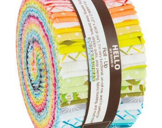 "Robert Kaufman - Betty's Luncheonette by Violet Craft -  2.5"" Roll Ups - 40 pcs bundle"