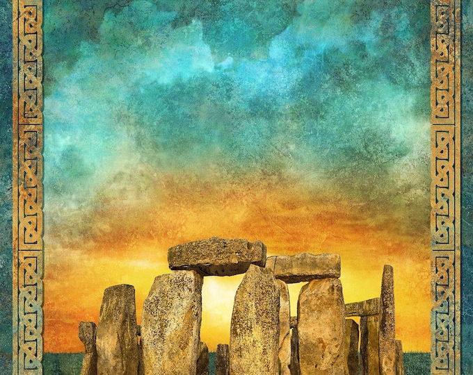 "Northcott Fabrics - Stonehenge Solstice by Deborah Edwards and Linda Ludovico - 24"" Panel Digitally Printed Cotton Woven Fabric DP39427-69"