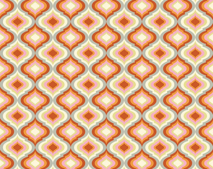 Tula Pink - Moonshine - Lanterns Tangerine Orange Cotton Woven Fabric - OUT OF PRINT !