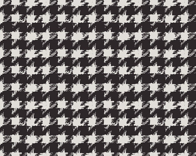 Art Gallery Fabric - Decadence - Onyx Houndstooth XIV - Cotton Woven Fabric - Bari J