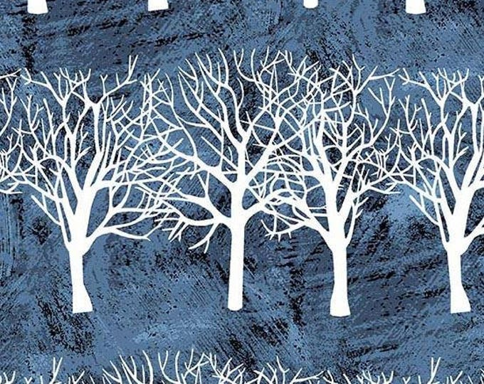 Winter Moon Blue Winter Trees 8517-B by Two Can Art by Andover Fabrics