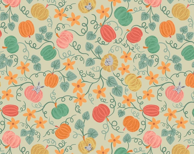 Lewis & Irene Fabrics - Scarecrow Acres - Patch - Light Gray - Cotton Woven Fabric