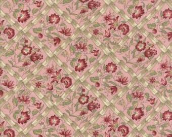 Moda Fabrics - Jardin de Versailles by Kaari Meng of French General -  Rouge Cotton Woven