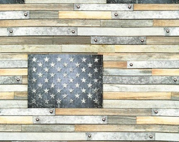 Robert Kaufman Fabric - Country Farmhouse Flag AWHD-18233-276 Cotton Woven Fabric