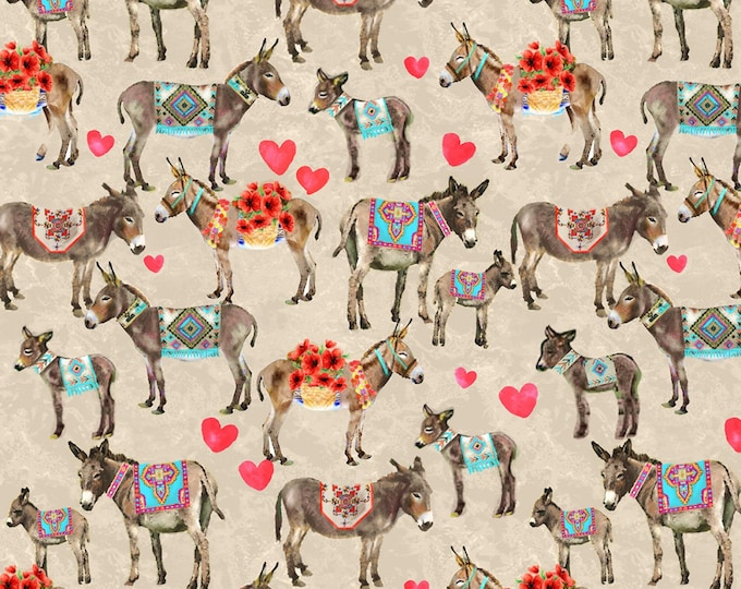 Neutral Donkey # 120-99622 Cotton Woven Fabric by Paintbrush Studios