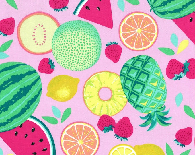 Michael Miller Fabrics - Sew Fruity - Caribe Fruit Toss # CX8518-CARB - Cotton Woven Fabric