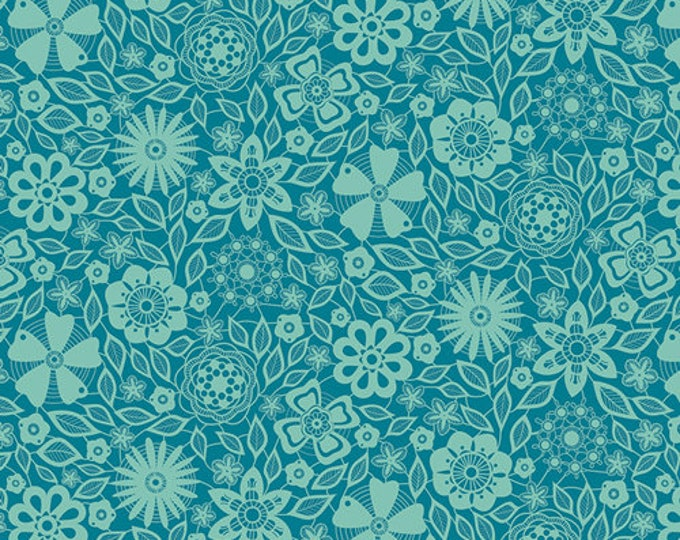 Art Gallery Fabric - Loved to Pieces - Laced Infinity - Gentle - Cotton Woven