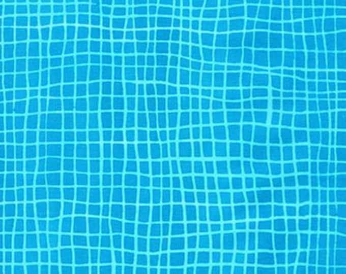 Robert Kaufman Fabric - Mark to Make - Turquoise Net cotton batik fabric