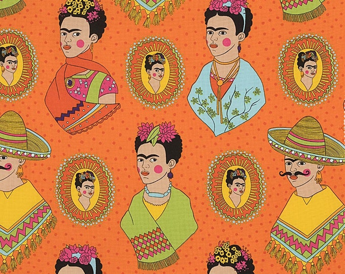 Alexander Henry Fabric - Fantastico Frida - Orange - Cotton Woven Fabric
