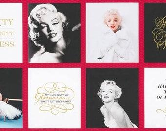 Robert Kaufman Fabrics - Marilyn Monroe Blocks 24 inch panel Cotton Woven