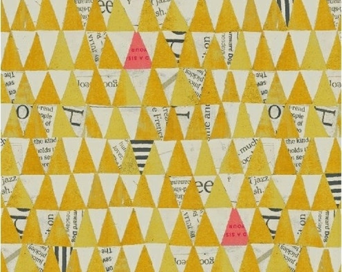 Windham Fabrics - Wonder by Carrie Bloomston -   Triangles Yellow 50521-4 Cotton Woven Fabric