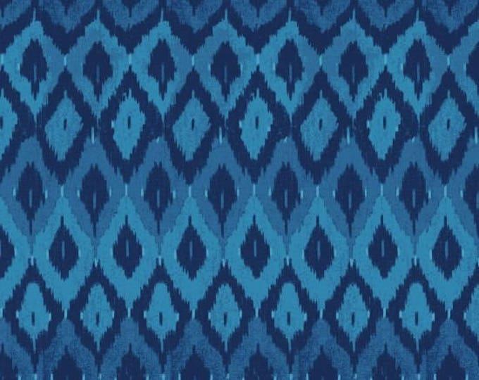 StudioE Fabric -  Indigo Coastal -  Nautical Blue Geometric Cotton Woven Fabric