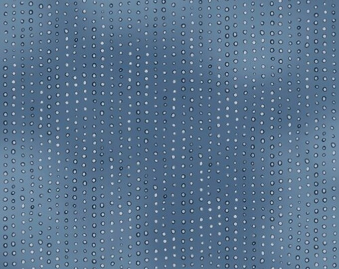 Santoro's Gorjuss - Rainbow Dream, Dusty Blue Dotted Tone Blender Cotton Woven