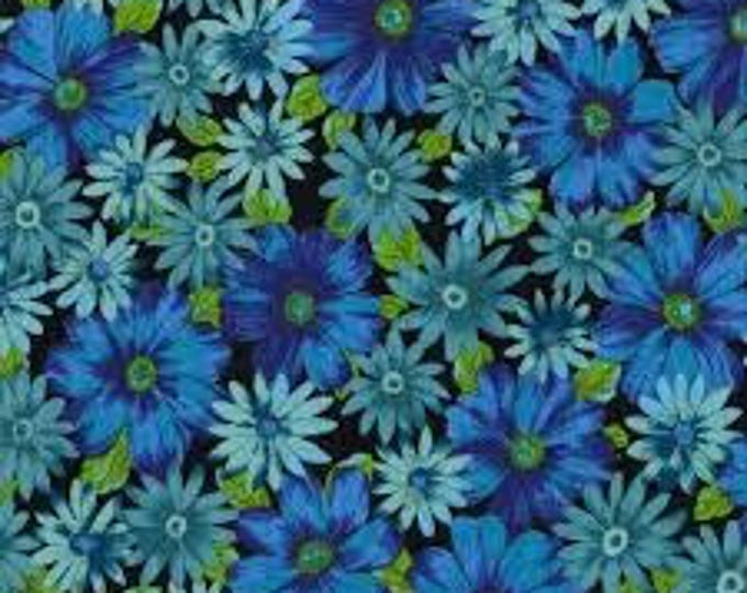 Barkcloth  Mary Blue  - Outback Wife Barkcloth by Ella Blue Fabrics