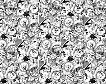 Springs Creative - Nightmare Before Christmas Tossed World Cotton Woven Fabric
