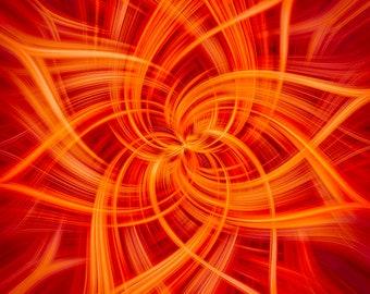 "Hoffman Fabrics - Dream Big Dance by Jeanie Sumrall-Ajero - 43"" Panel - R4658-310-Fire - Cotton Woven Fabric"