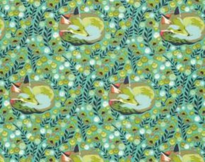 Tula Pink - Chipper - Fox Nap Mint cotton woven fabric