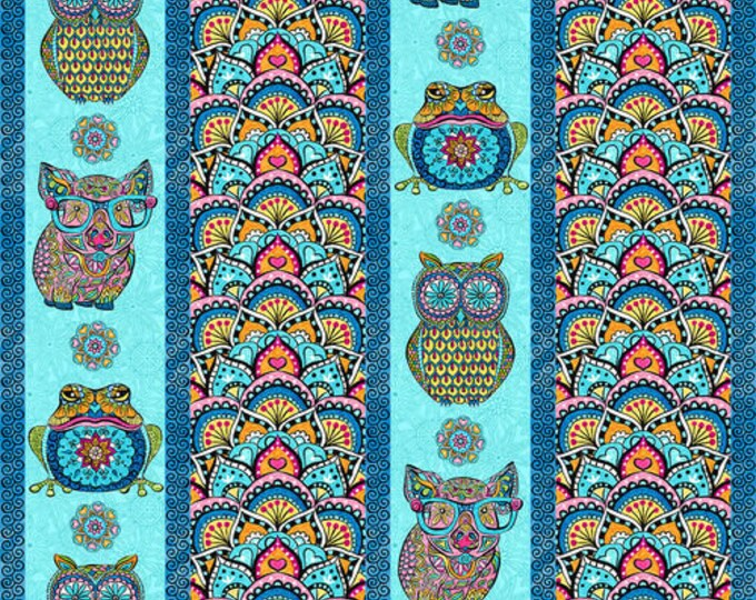 Blank Quilting - Mandala Tango - Blue Stripe #9648-70 Cotton Woven Fabric