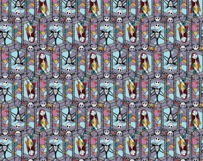 Springs Creative - Nightmare Before Christmas Stained Glass Cotton Woven fabric