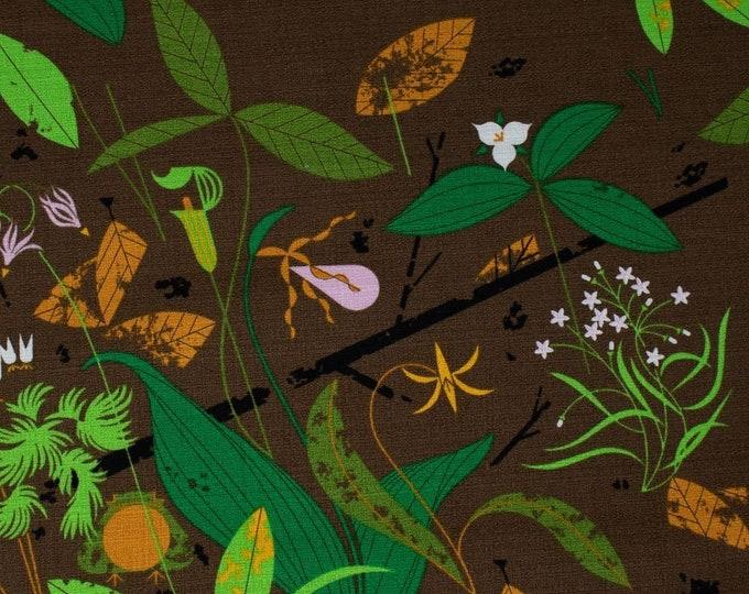 Birch Organic Fabrics - Charley Harper Barkcloth - Spring Wildflowers - Organic Cotton Barkcloth