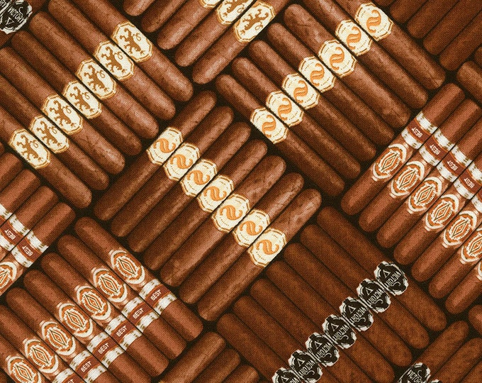 Timeless Treasures Cigars cotton woven