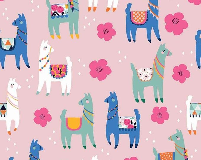Llamas Novelty Pink C9009-PINK - My Mind's Eye for Riley Blake Fabrics